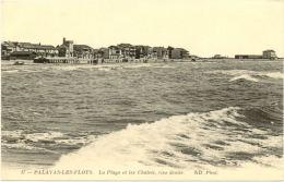 34/CPA - Palavas Les Flots - La Plage Et Les Chalets, Rive Droite - Palavas Les Flots