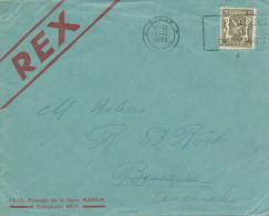 045/22 -  IMPRIME TP Petit Sceau NAMUR 1936 Vers BIESMES - Entete REX (Mouvement De LéonDegrelle ) - 1935-1949 Small Seal Of The State