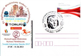 Poland Pologne. Astronomy N. Copernic Copernicus, Torun 2013. Final Of National Youth Philatelists Contest. - Astronomùia