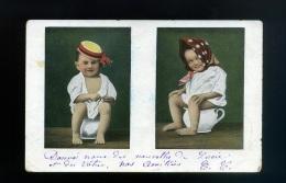 Enfant Carte Pipi Caca  Pot Humour  Série 201 - Bébé  Avec Chapeau Foulard - Cartes Humoristiques