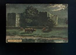 Art - Peinture - Paint - Tuck  Oilette -n ° 7738 - Picturesque Yorkshire  - Easby  Abbey - Pintura & Cuadros