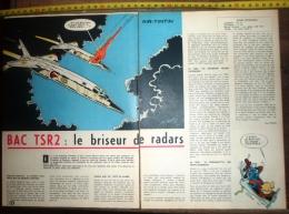 PUB PUBLICITE AVION BAC TSR2 BRISEUR DE RADARS ENGLISH ELECTRIC CANBERRA - Collections