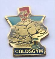 Pin's COLDSGYM - Le Bodybuilder Et Althère - 2M -  D067 - Trademarks