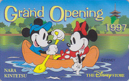 Télécarte Japon DISNEY STORE GO / 110-192797 - MICKEY & MINNIE En Canoë 1997 - Japan Phonecard Telefonkarte / 6000 EX - Disney