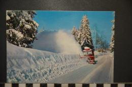 """NEIGE ET SOLEIL"""" - Le Chasse-neige Sur La Route Enneigée - Non Circulée - Trucks, Vans &  Lorries"""