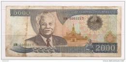 Laos - Banconota Circolata Da 2000 Kip - 1997 - Laos