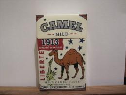 PAQUET VIDE MILD 1913 CAMEL NAIT  EN AMERIQUE - Metal