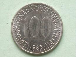 1985 - 100 DINARA / KM 114 ( For Grade, Please See Photo ) ! - Yougoslavie