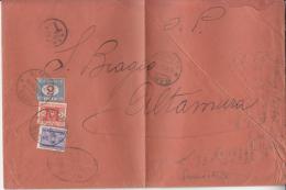 STORIA POSTALE-REGNO-BUSTA-TS -Vg Da BARI Il13-12-1935 X ALTAMURA Timbro Arrivo14-12-1935-VALORE CATALOGO 708€ - Posta