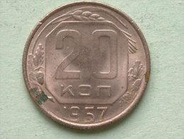 1957 - 20 Kopeks / Y# 125 ( For Grade, Please See Photo ) ! - Russie