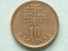 1990 - 10 Escudos / KM 633 ( For Grade, Please See Photo ) ! - Portugal