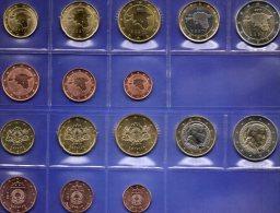 EURO-Einführung Im Balticum Eesti 2011 Latvija 2014 Stg. 45€ Der Münze Estland/Lettland Set 1C-2€ Coin Of Estonia,Latvia - Coins