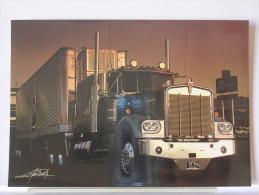 "CARTE GRAND FORMAT - ALBERTO MARTINEZ - EXTRAITE DU LIVRE ""LES CAMIONS"" - REF. 041 15 - Trucks, Vans &  Lorries"