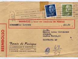 1366  Carta Reembolso Certificada Madrid 1976,  Carteria - 1971-80 Storia Postale