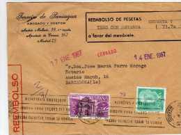 1369  Carta Reembolso Certificada Madrid 1967,  Carteria - 1961-70 Covers