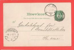 Entier Cachet  KRISTIANIA 1900 - Entiers Postaux
