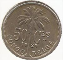 CONGO - ALBERT II * 50 Centiem 1929 Frans * Prachtig * Nr 3155 - 1910-1934: Albert I
