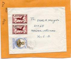 Cambodia Old Cover Mailed To USA - Cambodia