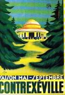 CONTREXEVILLE - TOURISME, RAIL, CHEMIN DE FER, DON - CPM  TBon Etat - Publicité