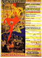 CONTREXEVILLE - TOURISME, RAIL, CHEMIN DE FER, ORAZY - CPM  TBon Etat - Publicité