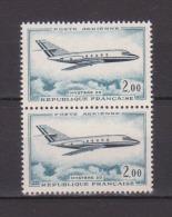 FRANCE / 1965 / Y&T PA N° 42 ** : Mystère 20 (2 TP En Paire) - Gomme D´origine Intacte - Airmail