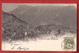 BSA-15 Salvan ,  Dent De Morcles Affranchissement Frontal En 1904,  Vers Montlivault Seine Et OisPrécurseur. - VS Valais