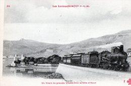 Transports > Chemins De Fer > Locomotives  Un Train De Grande Vitesse Sur La Cote D Azur - Treinen