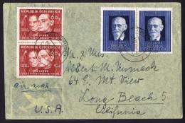 1948 «Stille Nach, Heilige Nacht» Liedes MiNr X2 FDC + 927 X2 Luftbrief Nach USA - FDC