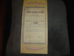 """Obligation De 300F""""Tramways De Moscou Et De Russie""""Russia Railway 1886 Bon état - Chemin De Fer & Tramway"""
