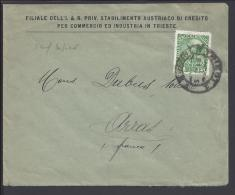 ITALIE TRIESTE - 1910-15 -  LETTRE DE TRIESTE A DESTINATION DE ARRAS - FR - - 7. Trieste