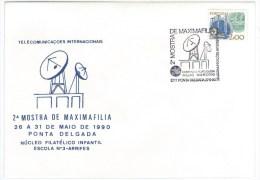 Portugal - Radio Marconi Portuguese Company - International Telecomunicatioons 1990 - Ponta Delgada - Telecom