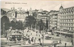 6946. Postal  BILBAO. El Arenal Y Boulevard. Animada - Vizcaya (Bilbao)