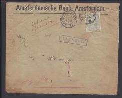 PAYS - BAS - 1894 -  LETTRE DE L´ AMSTERDAMSCHE BANK A DESTINATION DE CHARENTON - FR -  CACHETS AU VERSO - - Periode 1891-1948 (Wilhelmina)