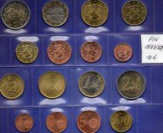 Mix-set EURO-Einführung Finnland 1999-2002 Prägeanstalt Helsinki Stg 21€ Staatlichen Münze 1C.- 2€ With 8 Coins Of Soumi - Finland