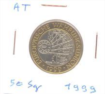 """50 Schilling Commémorative 1999 """"Conception De La Monnaie Euro"""" - Oostenrijk"""