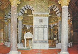 ISRAEL ,JERUSALEM,yéroushalaim,coupole,dome  The Rock,roc,vue Interieure,pilier - Israel