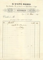 69 Lyon  Draperie Soierie Lingerie Cravates  Habillement 1851  Litteau Annecy - France