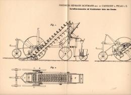 Original Patentschrift - F. Hoffmann In Carsdorf B. Pegau I.S.,1894, Kartoffel - Erntemaschine , Agrar , Karsdorf !!! - Maschinen