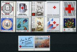 6 Timbres Croix Rouge Avec Leur Vignette Issu De Carnets à La Faciale - Neufs