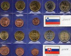 €-Einführung Osteuropa Slowenien 2007,Slowakei 2009 Stg 31€ Prägeanstalt Ljubljana/Bratislava Coins Slovenija/Slovensko - Coins