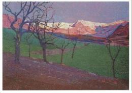 Luigi Bonazza 1877-1965 - Tramonto Su Fravort. - Peintures & Tableaux