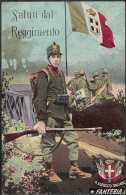 SALUTI DAL REGGIMENTO - FANTERIA - VIAGGIATA - DATA ANNULLO: 26.08.1916 - Reggimenti