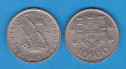 PORTUGAL  10  ESCUDOS 1.973  CU NI  KM#600  SC/UNC   T-DL-10.666 - Portugal