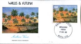 Wallis Et Futuna - 1er Jour Meilleurs Voeux - Mata-Utu 17 Décembre 1990 - FDC