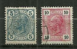 """Autriche Oblitéré ; Y & T N° 84,86 ; """" François Joseph """" (  Ligne Brillante ) - Oblitérés"""