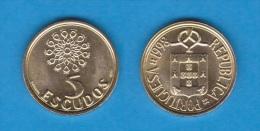 PORTUGAL  5  ESCUDOS 1.998  Niquel-Latón  KM#632   SC/UNC   T-DL-10.671 - Portugal