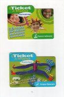 Jan14   63506    Lot De Deux   Ticket   De Téléphone - Schede Telefoniche