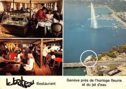 Geneva  Lebateau Restaurant, Geneve Pres De L'horloge Fleurie Et Du Jet D'eau - Hotels & Restaurants