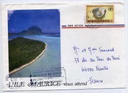 Ile MAURICE-1991-Lettre De L'Ile MAURICE(Int Literacy Year) Pour La France--NANTES-44--enveloppe Illustrée - Maurice (1968-...)