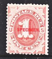 U.S. J 15  S  SPECIMEN     **  1884  ISSUE - Nachdrucke & Specimen